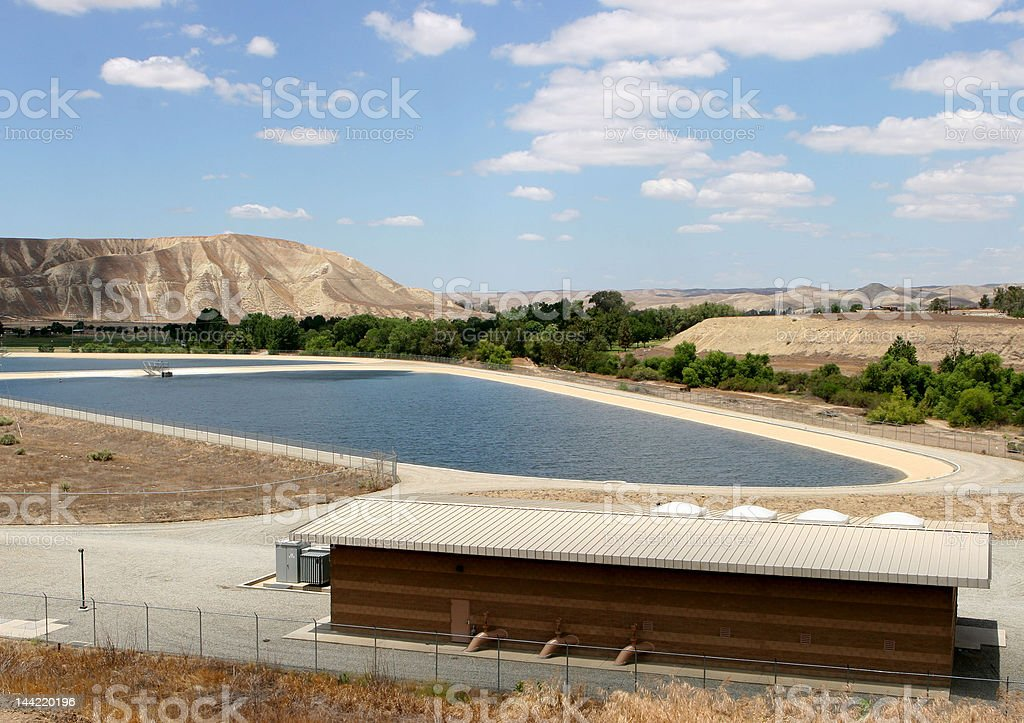 Rural Water Reservoir stock photo