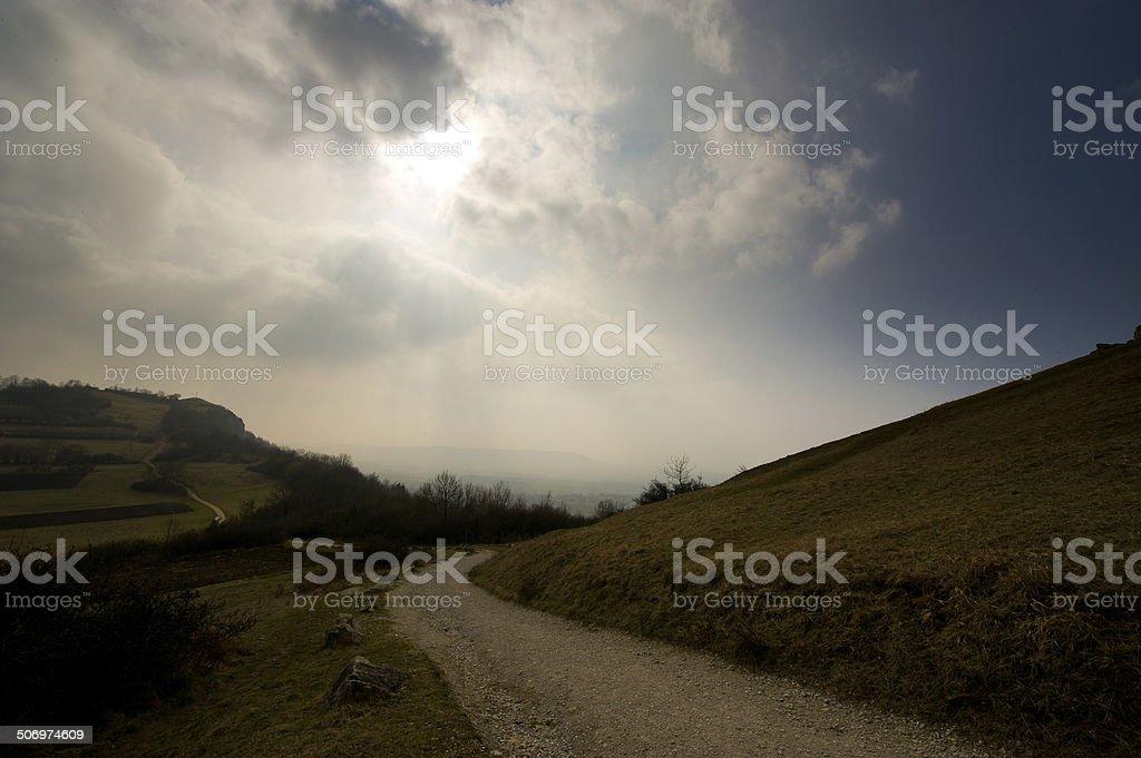 Rural way royalty-free stock photo