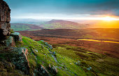 Beautiful landscape in South Wales, UK, at sunrise