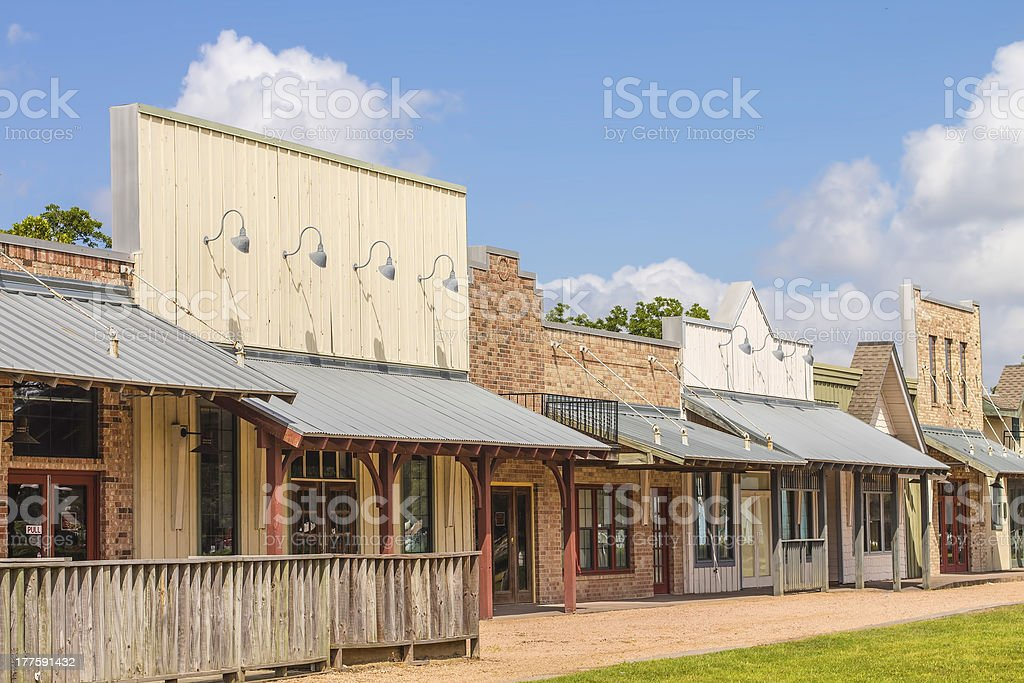 Rural Western Style Shops royalty-free stock photo