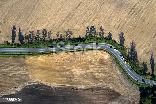 istock Rural Winding Road from Above 1178852404