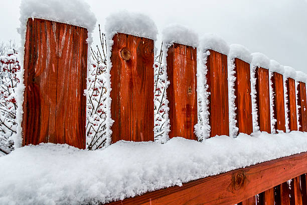 Rural wooden fence Rural wooden fence russian dacha stock pictures, royalty-free photos & images