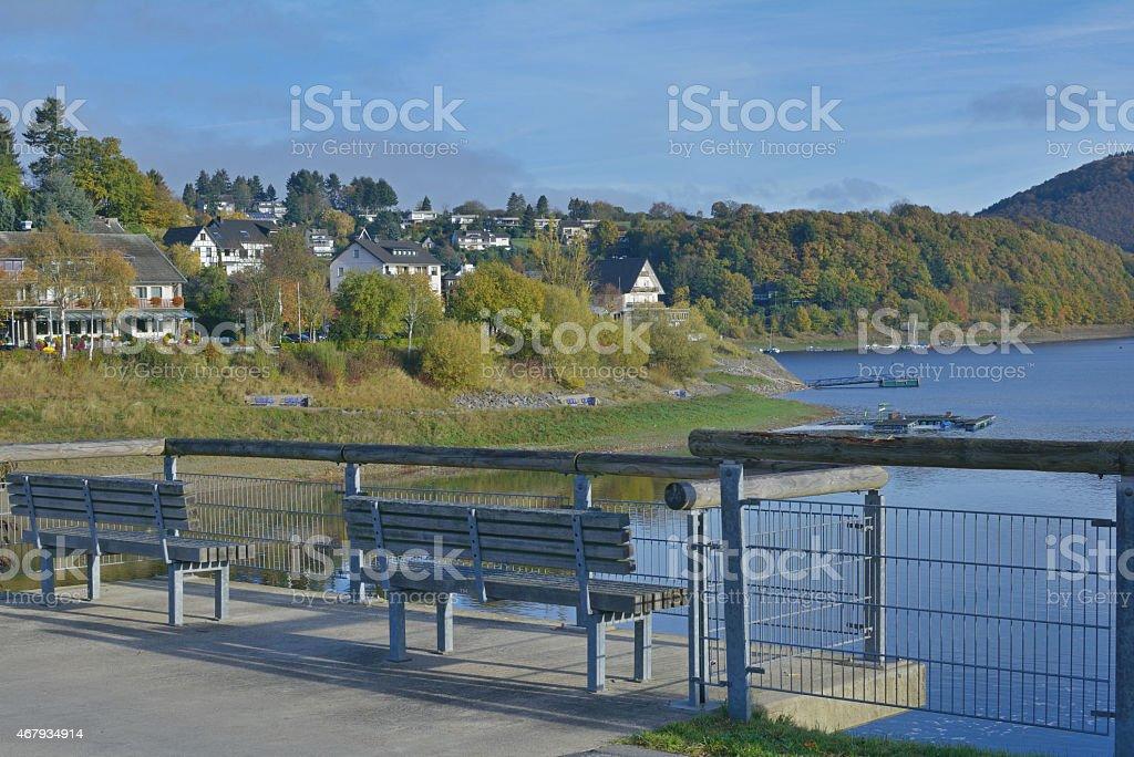 Rurberg,Eifel,Rur Reservoir,Germany stock photo