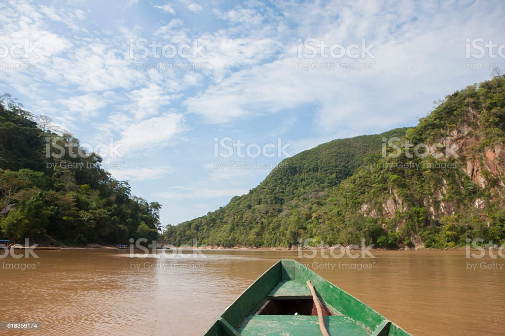 Rurrenabaque, Beni River in Bolivian Amazon. stock photo