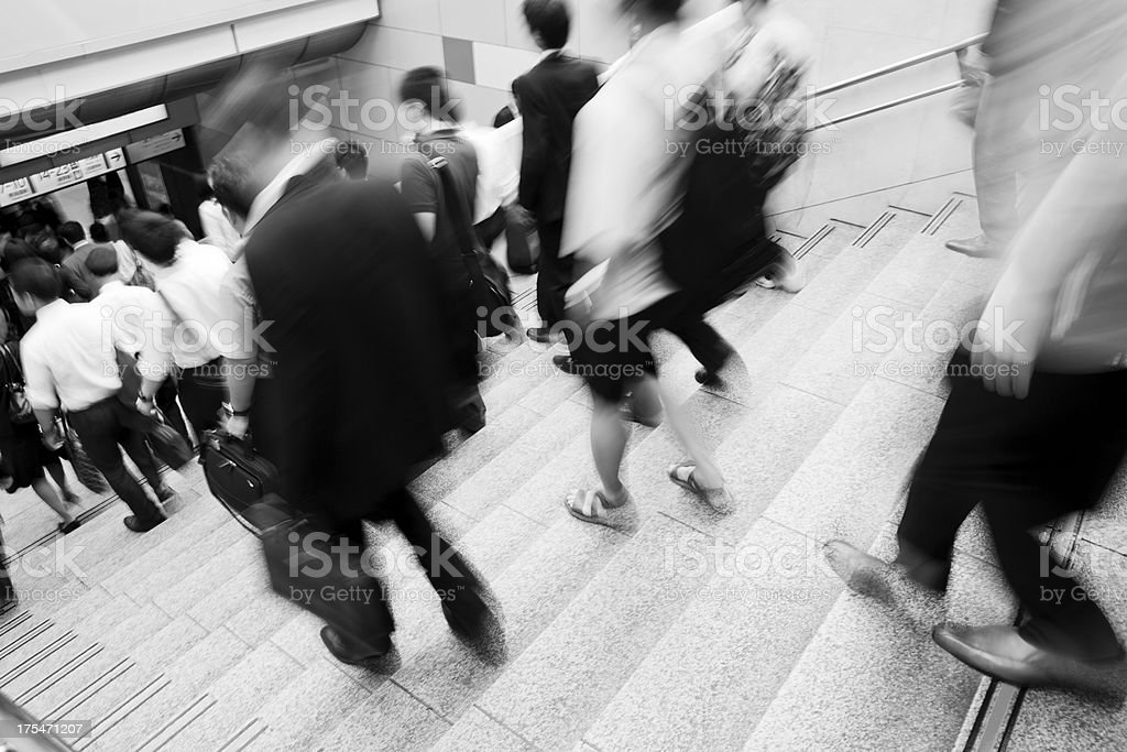 Rush Hour at Station royalty-free stock photo