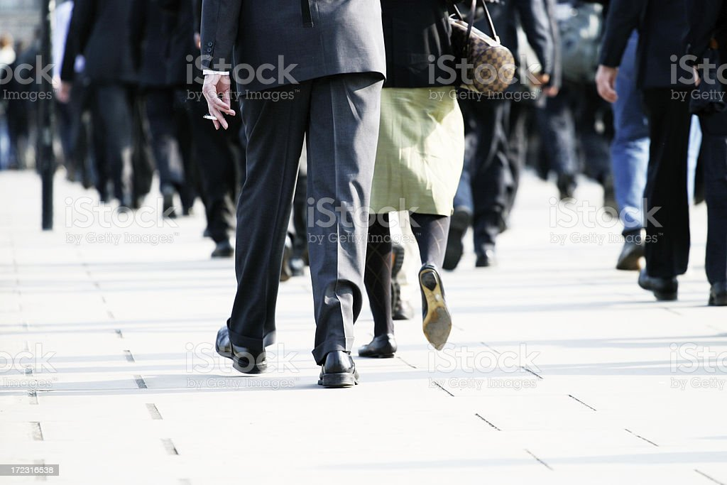 Rush hour commuters royalty-free stock photo