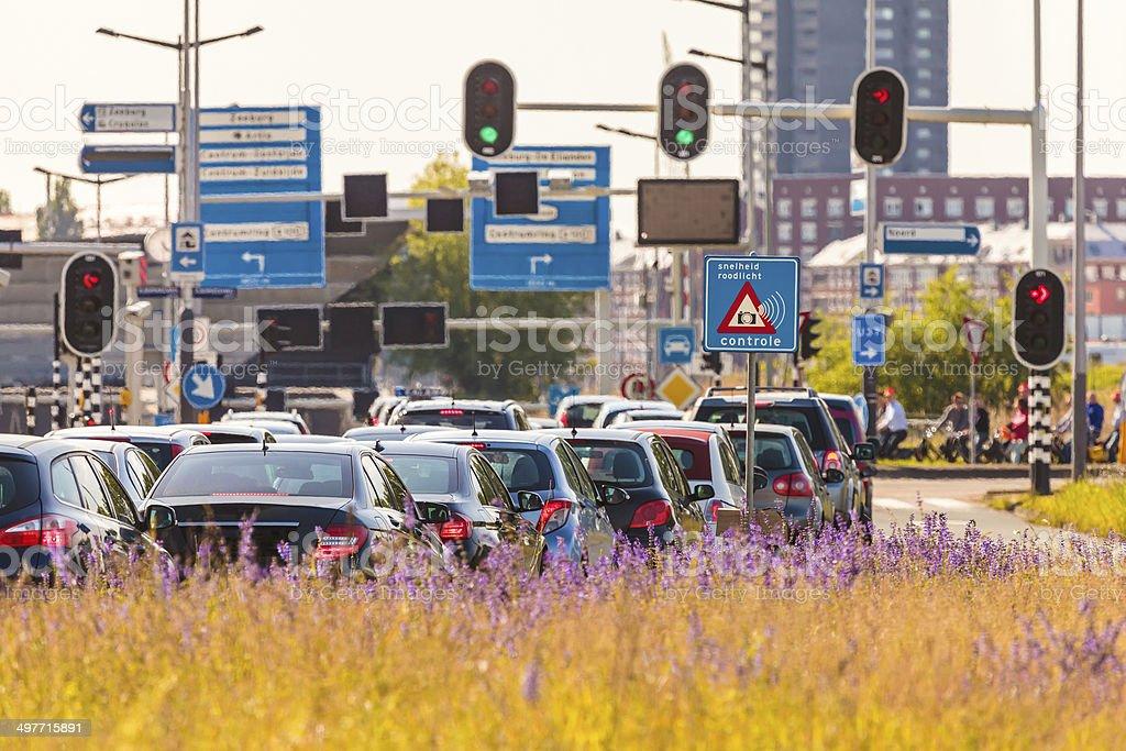 Rush hour in Amsterdam, The Netherlands stock photo