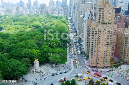 618059920 istock photo Rush Hour in Columbus Circle,Central Park,NYC 458408191