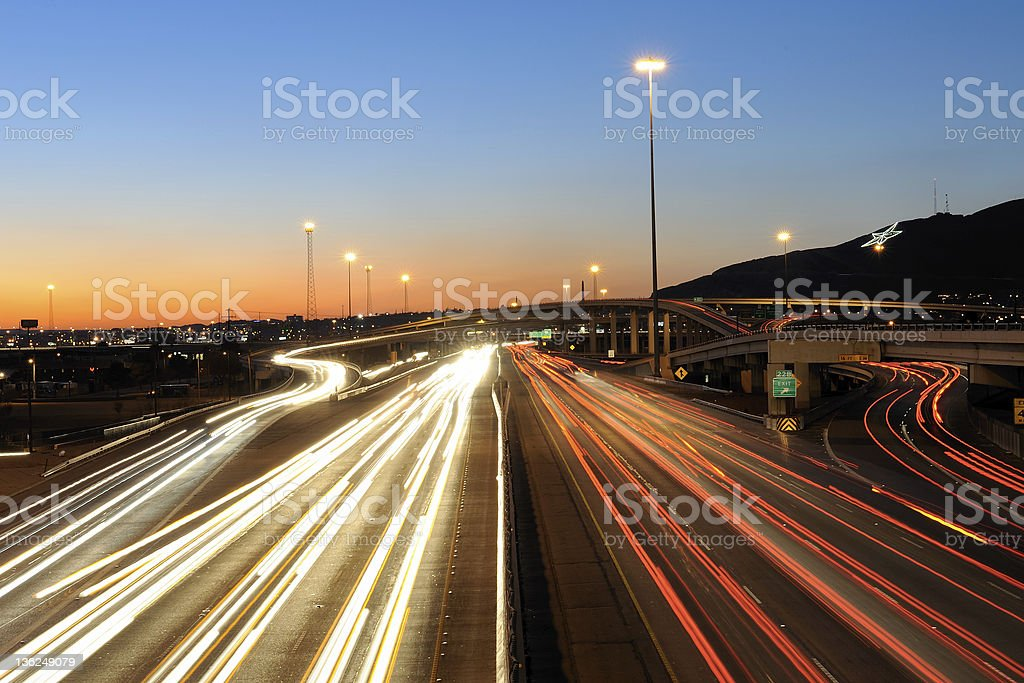 Rush Hour in El Paso, Texas stock photo