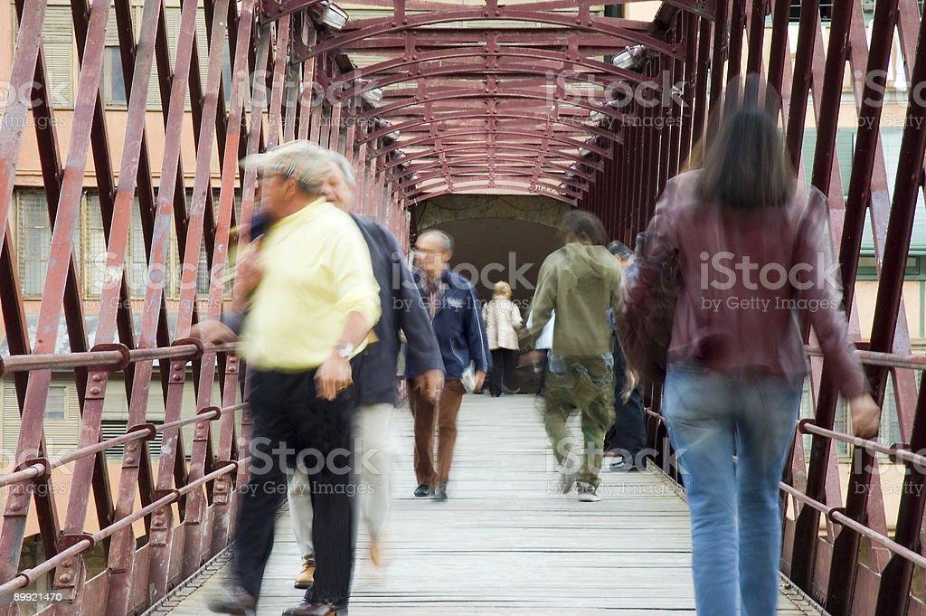 Rush hour in Girona royalty-free stock photo
