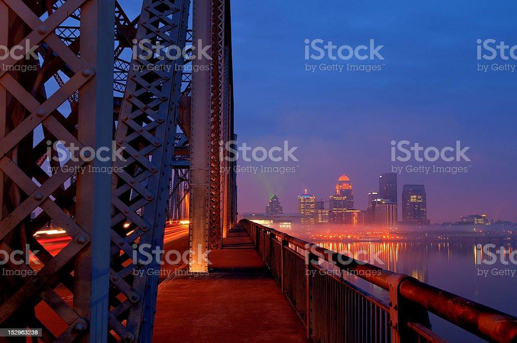 Rush Hour in Louisville, Kentucky Skyline at Sunrise stock photo