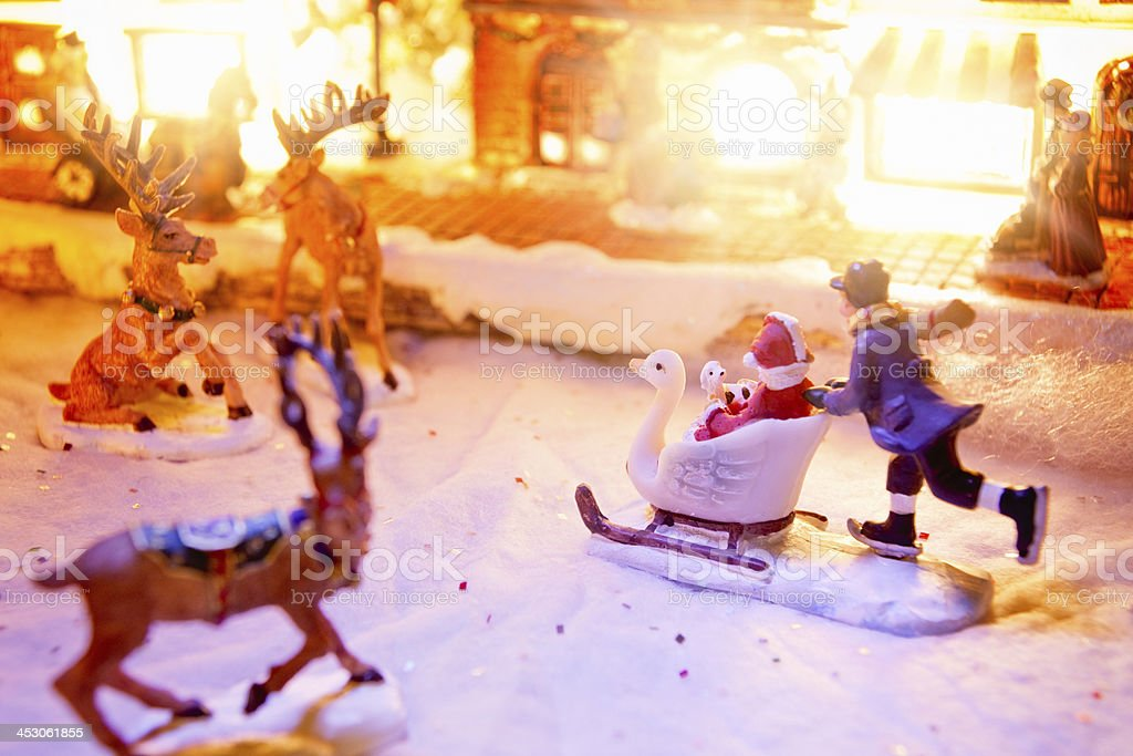 Rush Hour In Miniature Christmas Village Stock Photo More Pictures