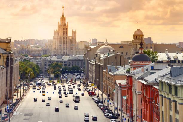 Ansturm Stunde in Moskauer Straße. – Foto