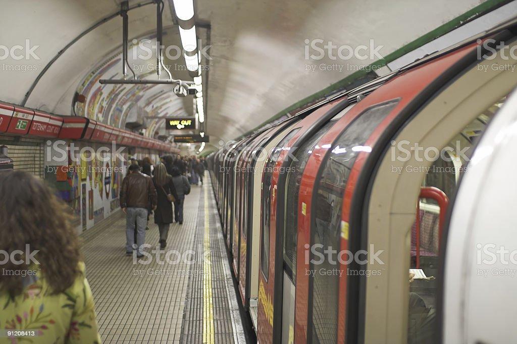 Rush hour in subway royalty-free stock photo