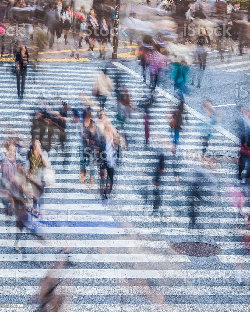 Rush hour in the city stock photo