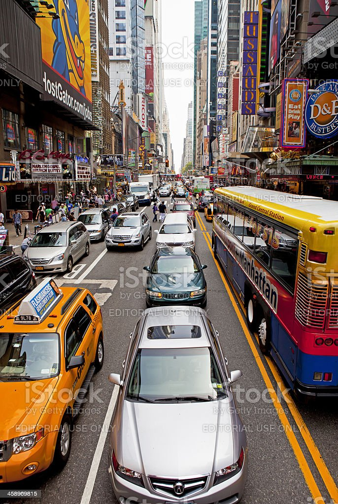 Rush Hour in Times Square royalty-free stock photo