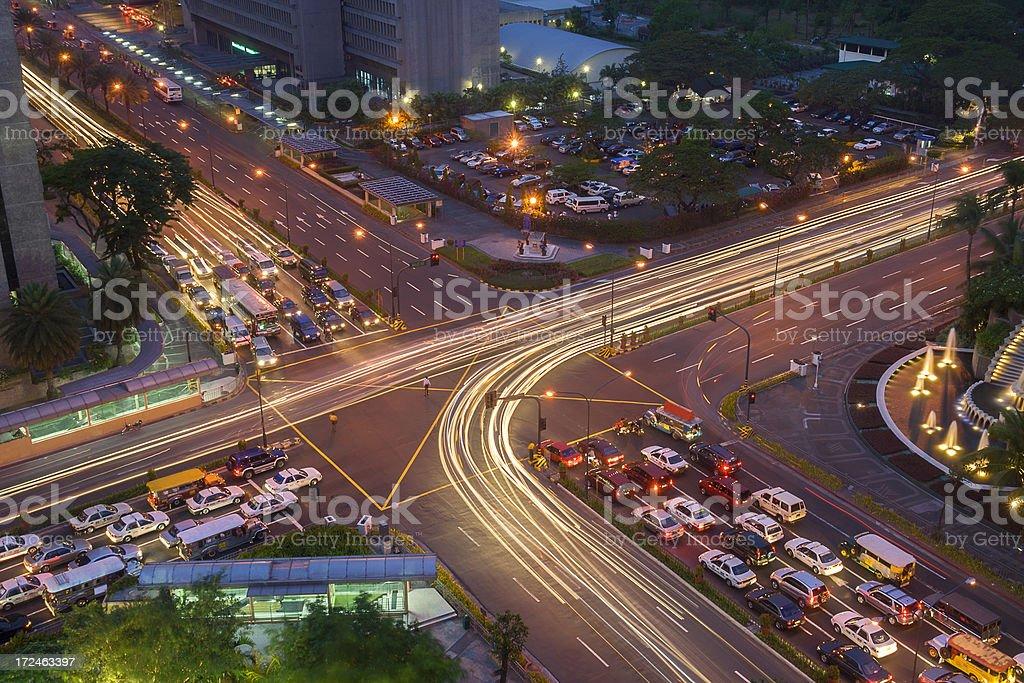 Rush Hour Manila royalty-free stock photo