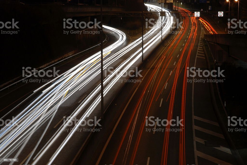 rush hour on an autobahn in switzerland royalty-free stock photo