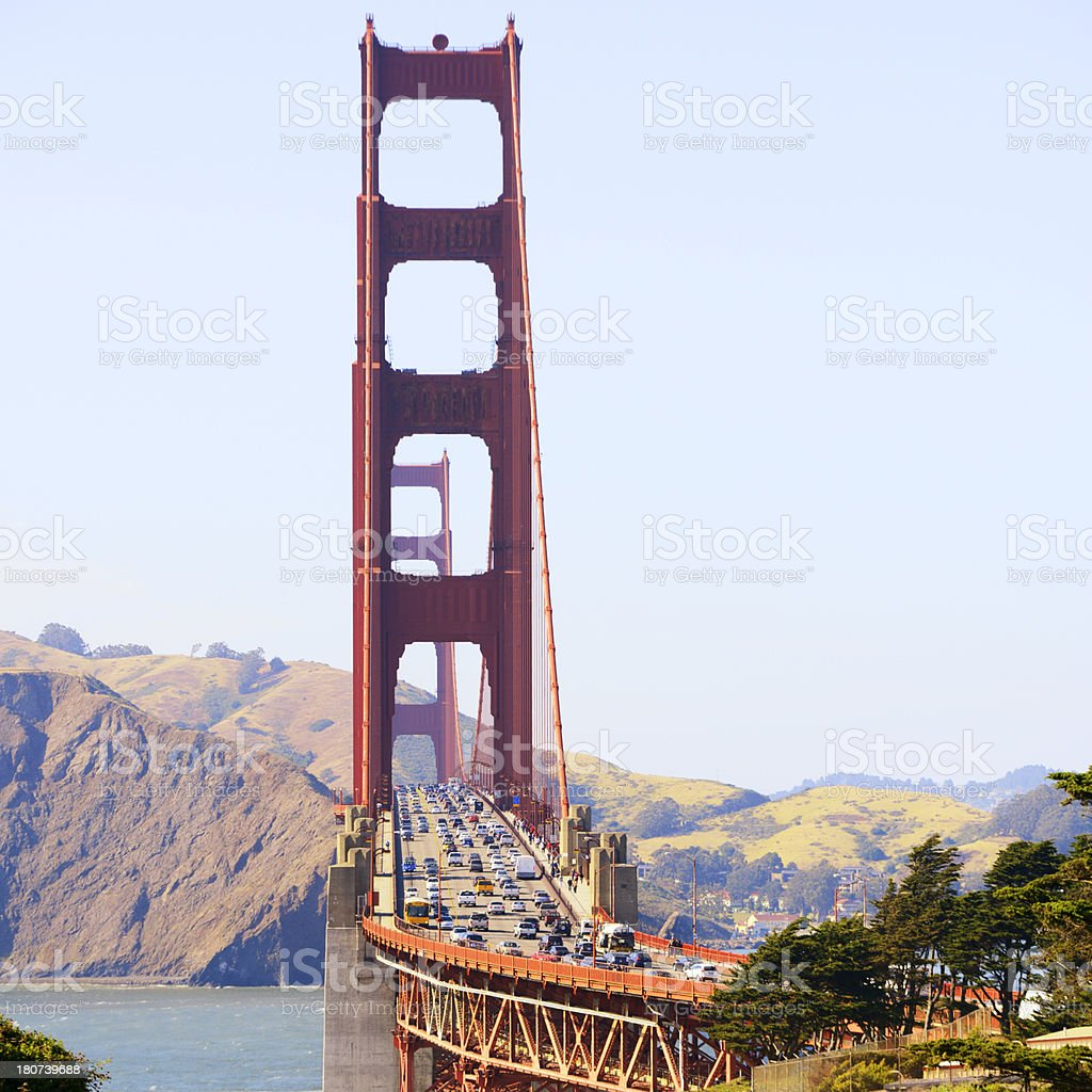 Rush Hour on Golden Gate,San Francisco royalty-free stock photo