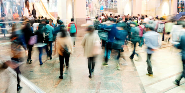 rush hour - shopping stock photos and pictures