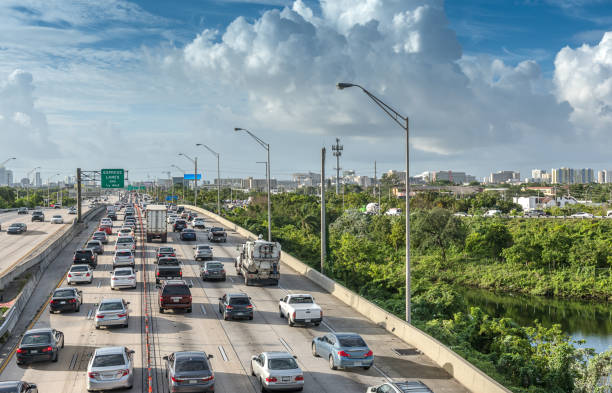 rush hour - traffic stock photos and pictures