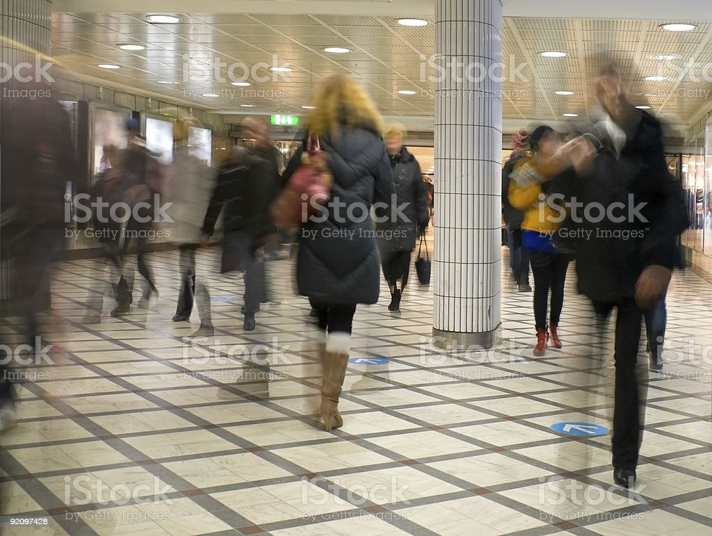 Rush hour stock photo
