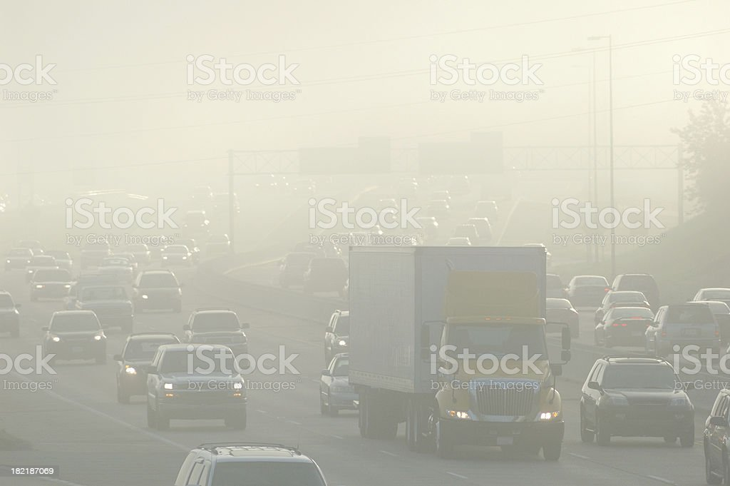 Rush Hour Smog stock photo