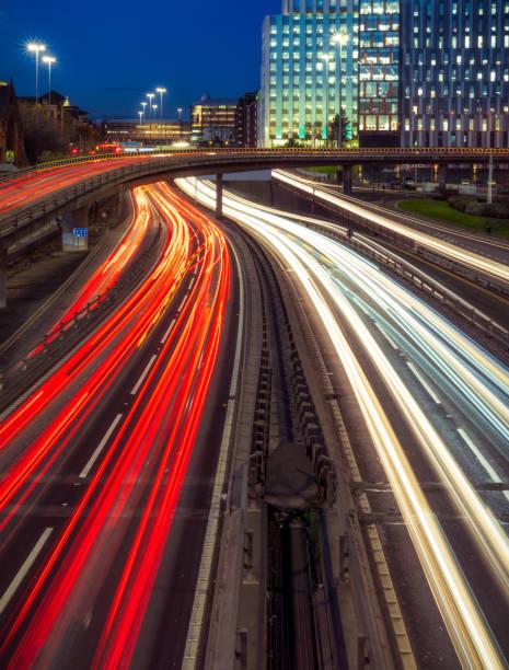 Rush Hour Verkehr in Glasgow – Foto
