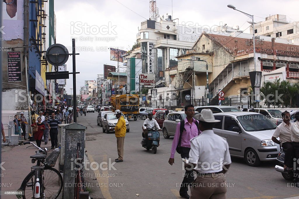 Rush hour traffic on Hosur Road, Bangalore, India royalty-free stock photo