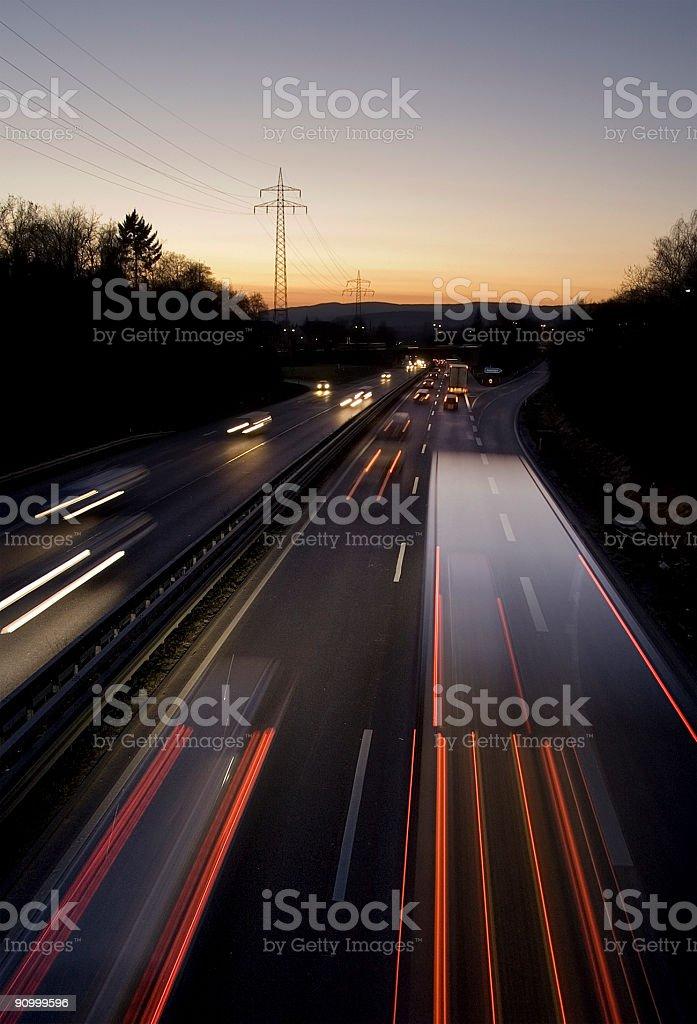 rush-hour traffic on highway stock photo