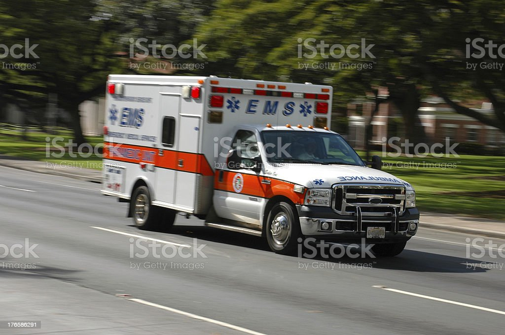 Rushing Ambulance stock photo