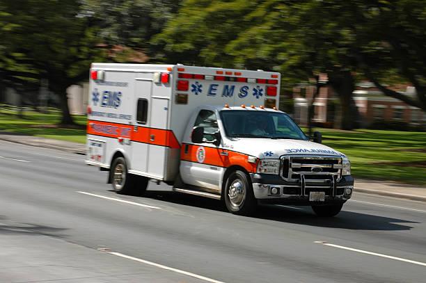 Rushing Ambulance stock photo