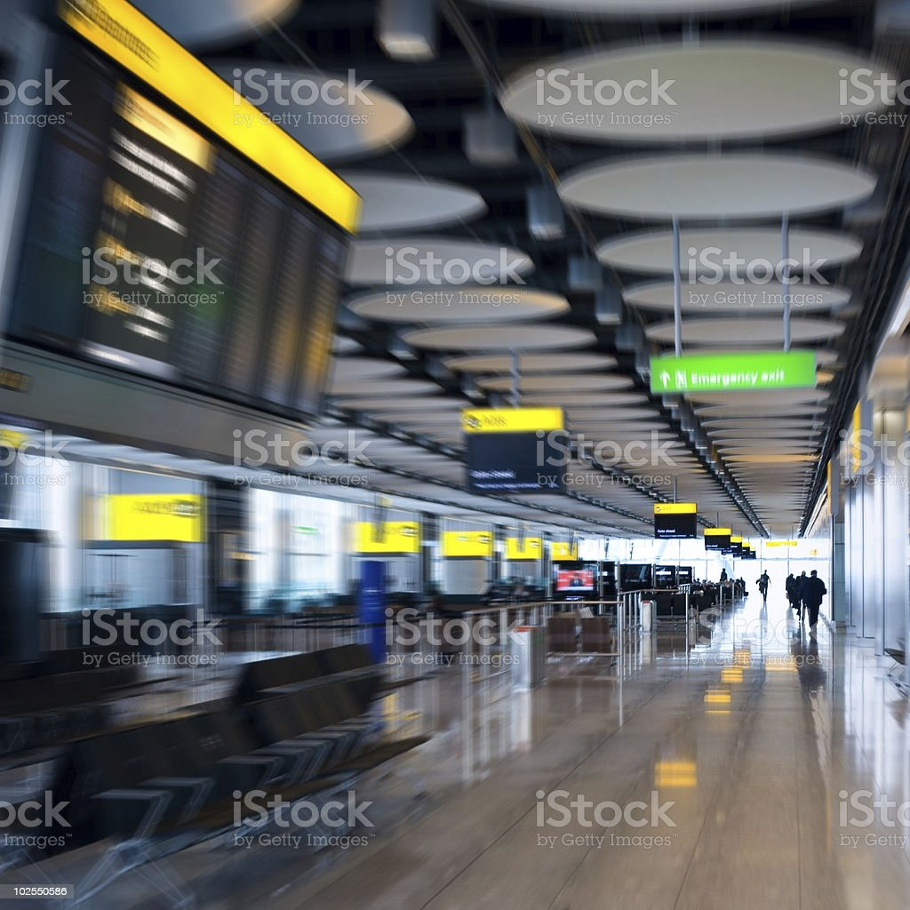Rushing for flight royalty-free stock photo