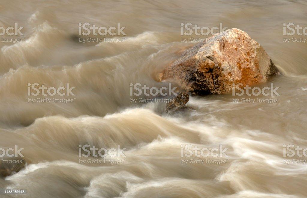 Rushing Rain Water stock photo