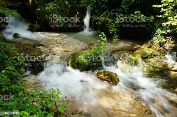Photo of rushing river at Monti Sibillini National Park, Italy