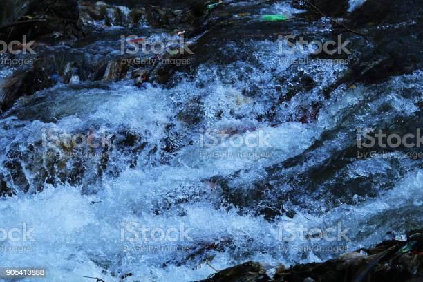 Photo of rushing river flow