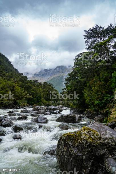 Photo of Rushing River in the Mountains