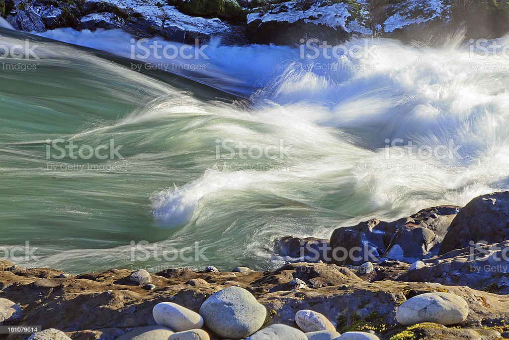 Rushing river whitewater channel royalty-free stock photo