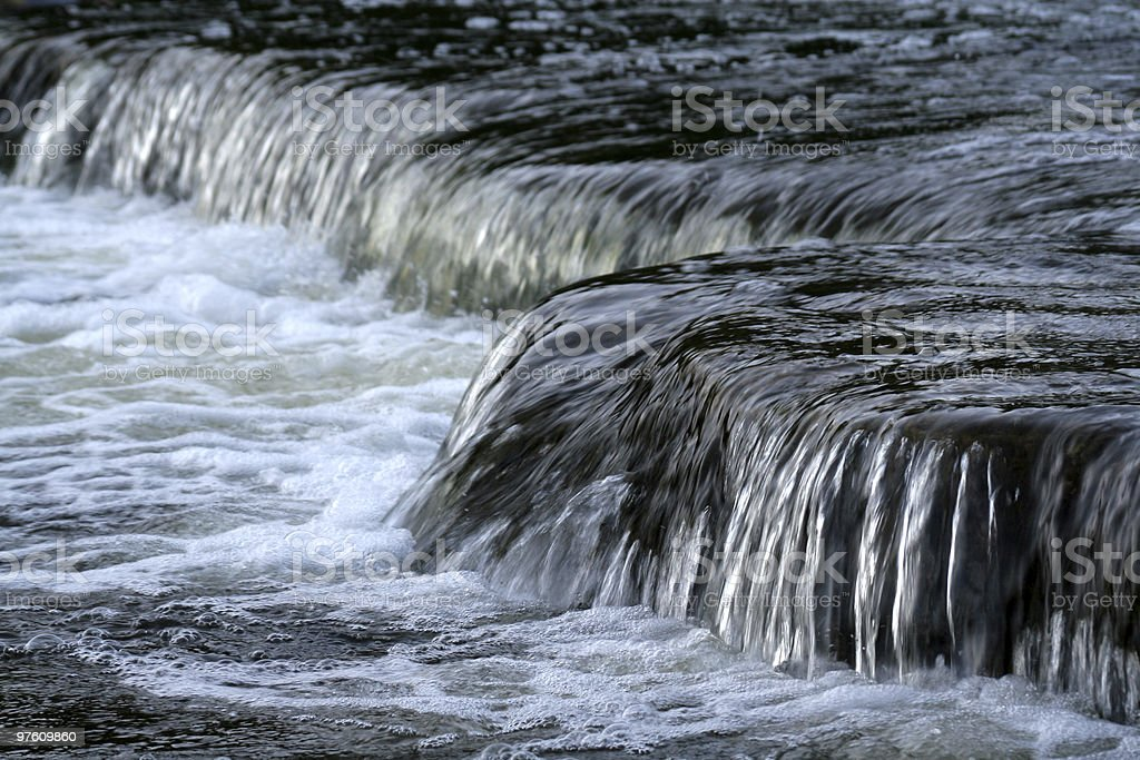 Rushing Sauble Falls royaltyfri bildbanksbilder