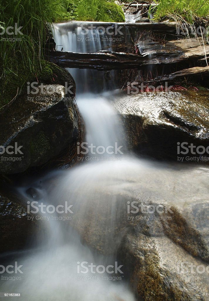 Rushing stream in Northern California royalty-free stock photo