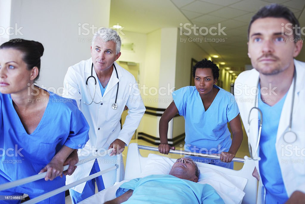 Rushing to save a life! stock photo