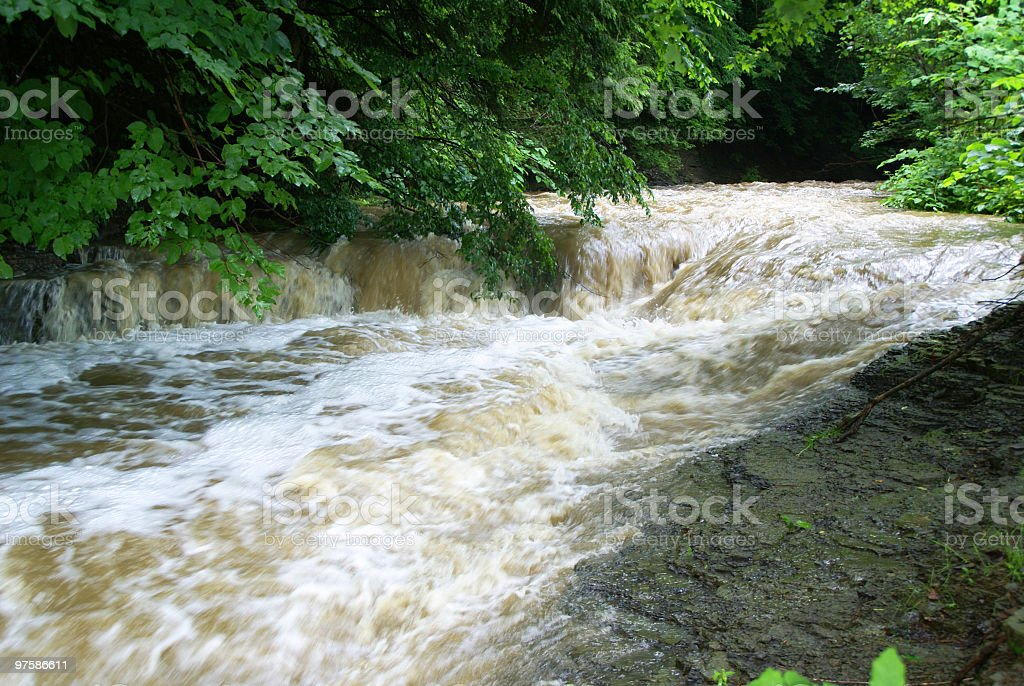 Rushing Water after the Storm royalty-free stock photo