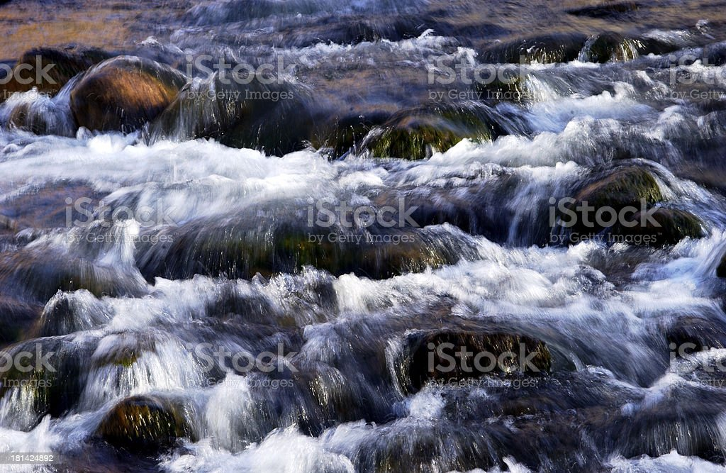 Rushing water texture stock photo