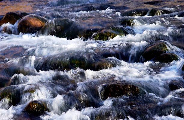 Rushing water texture stock photo