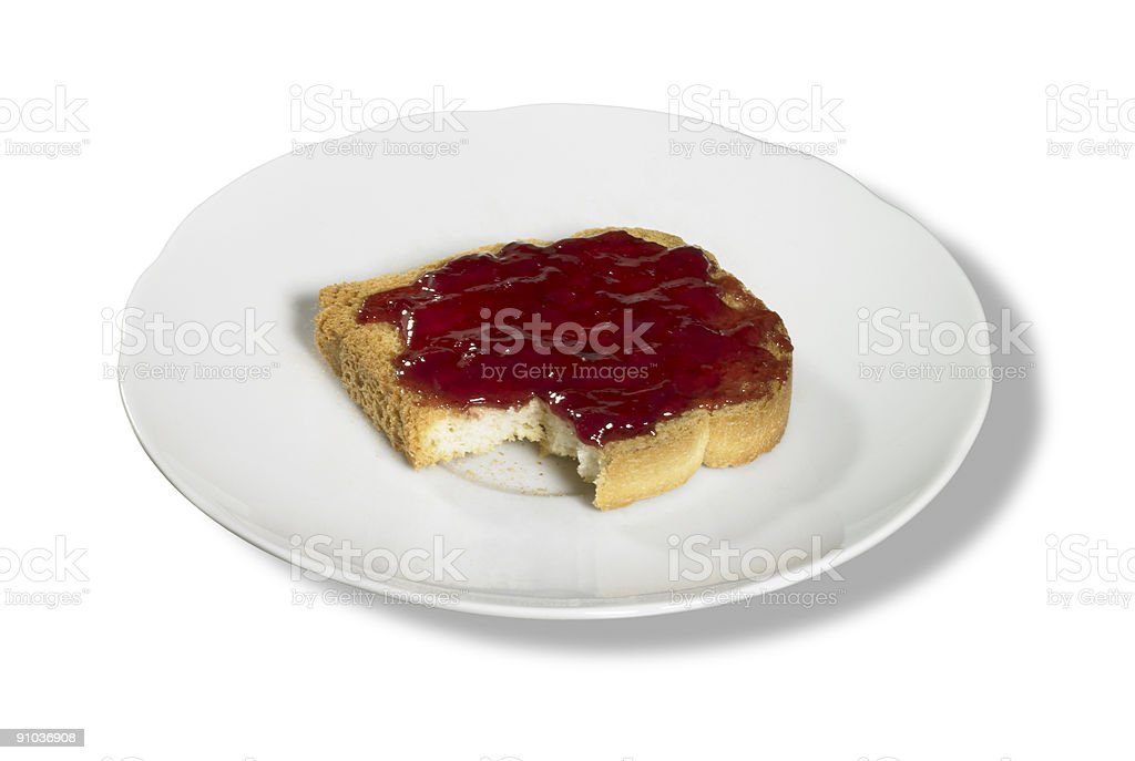 rusk and jelly stock photo