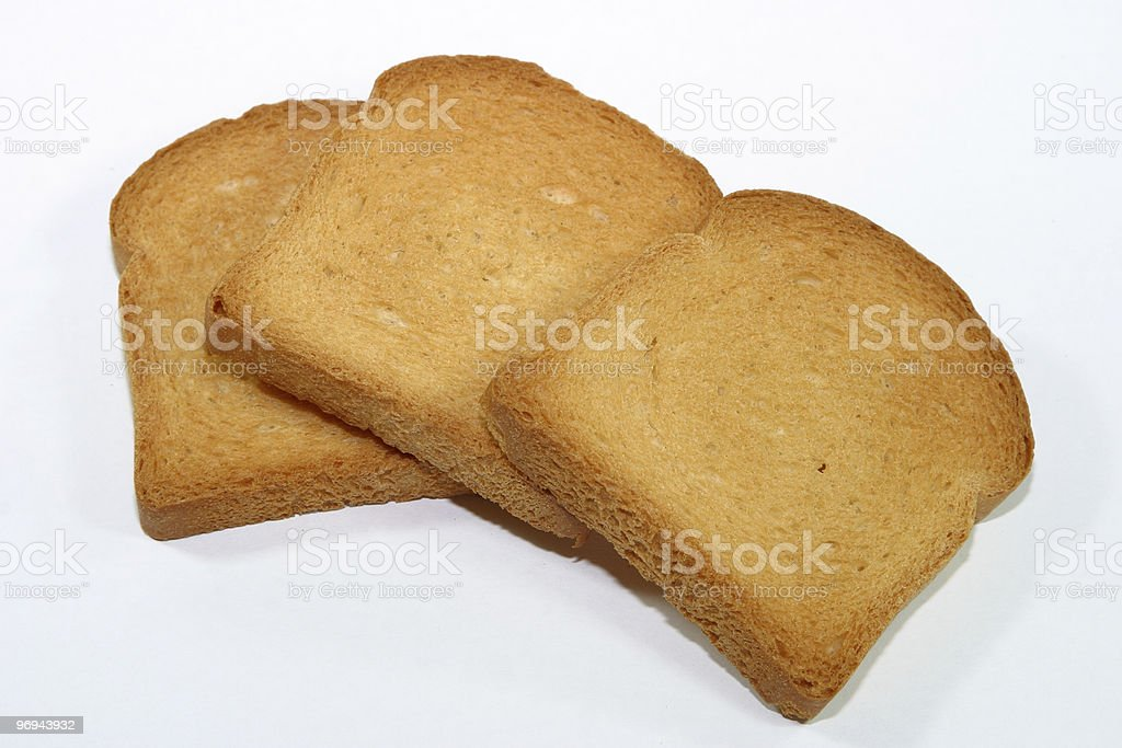 Zwieback slices royalty-free stock photo