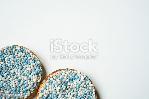 Dutch tradition when a son is born: rusk with muisjes, sprinkles