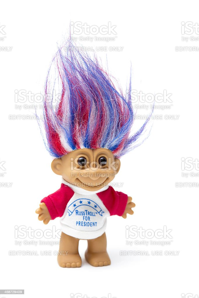 Russ Troll for President stock photo
