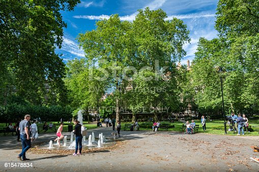 istock Russel Square with tourists 615478834