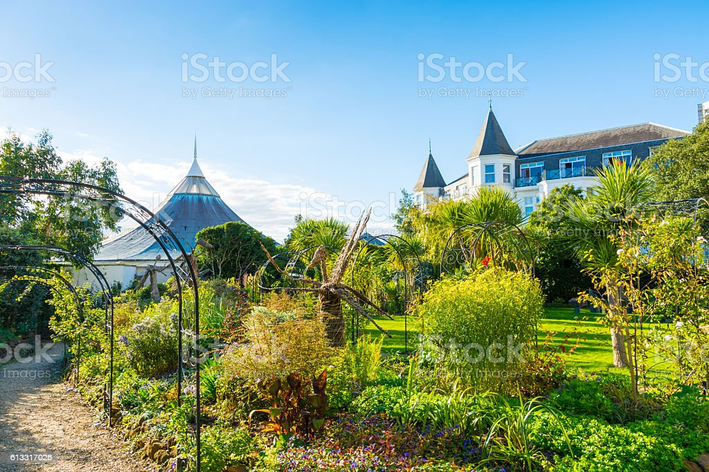 Russell Cotes Public Garden in Bournemouth stock photo